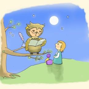 Děťátko a sova