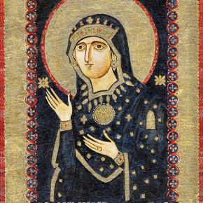 """Tato ikona je opsaná dle předlohy ze 13. století, která zázračně připlula do baziliky Santa Maria in Via Lata v Římě. Panna Marie je tu uctívána jako """"Pramen Světla, Hvězda moře""""."""