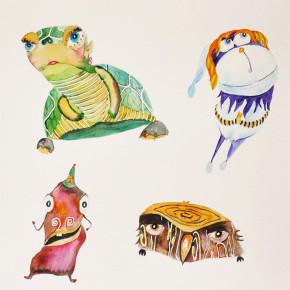 Želvuše, sněhová koule a červí divoženka se Sovákem na jednom papíře