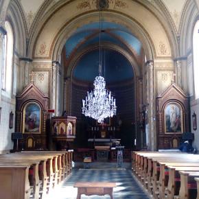 Úhonice interiér kostela