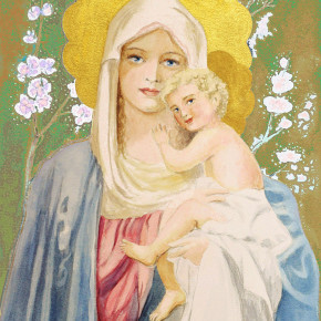 Panna Marie mezi květy