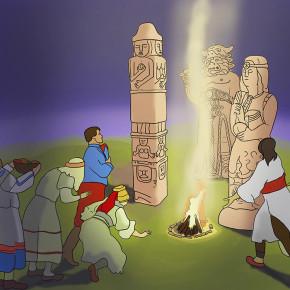 Slované se klaní modlám